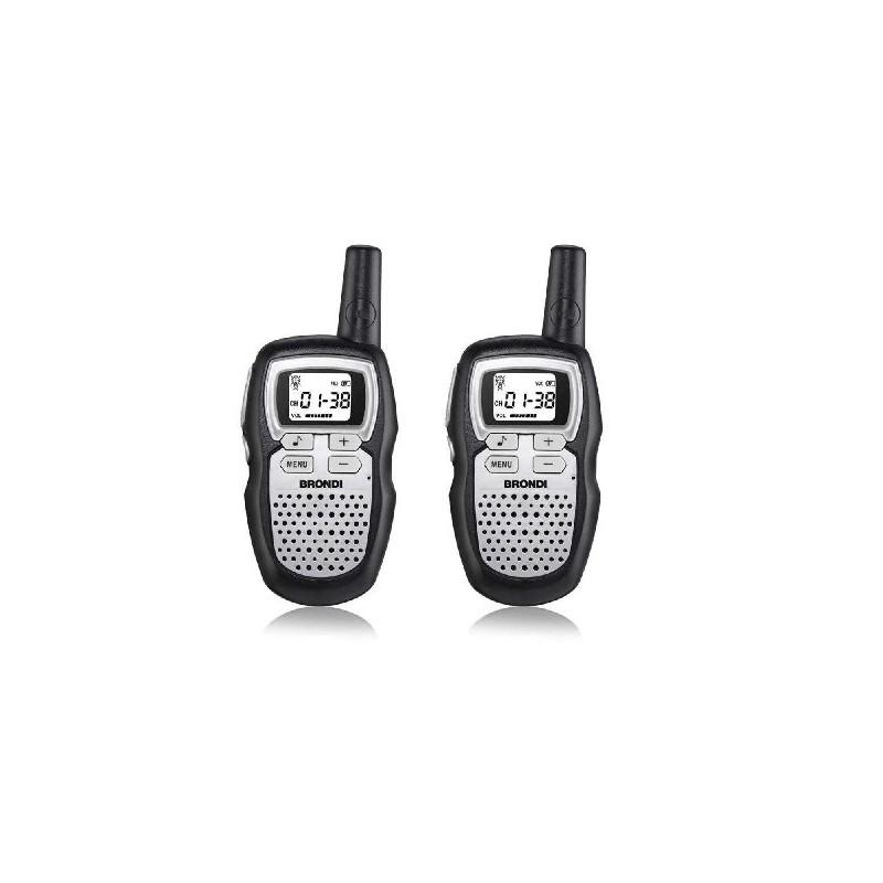 BRONDI WALKIE TALKIE Ricetrasmittente FX-Compact Sport+ NERO/SILVER