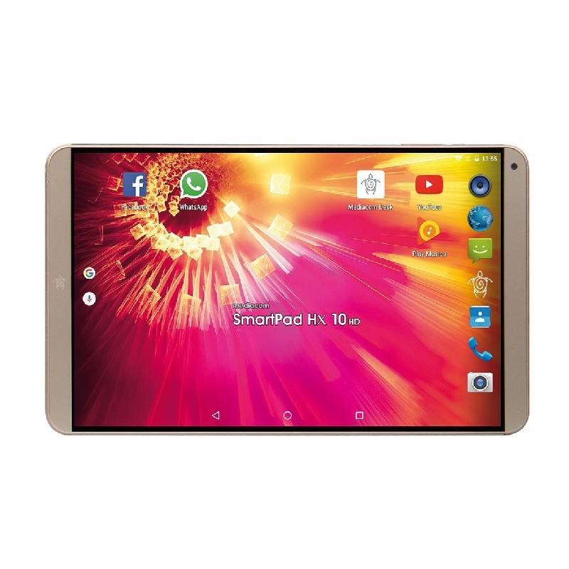 MEDIACOM TABLET SmartPad HX HD ORO 10.1 HD Quad Core RAM 1GB 8GB Slot MicroSD Wi-Fi - 3G Phone Fotocamera 2Mpx Dual Sim Full Met