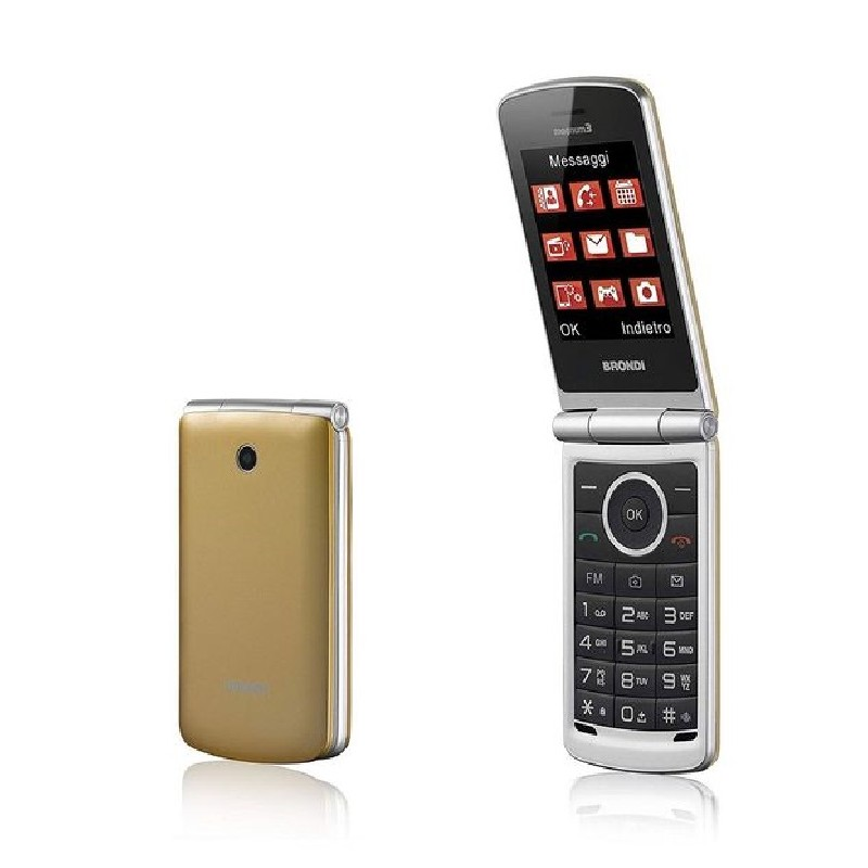 BRONDI MAGNUM 3 ITALIA GOLD, Apertura a Flip, Display 3 \'\' Quadri Band - Foto 1,3 Mpx, Bluetooth 2.1 - Dual SIM