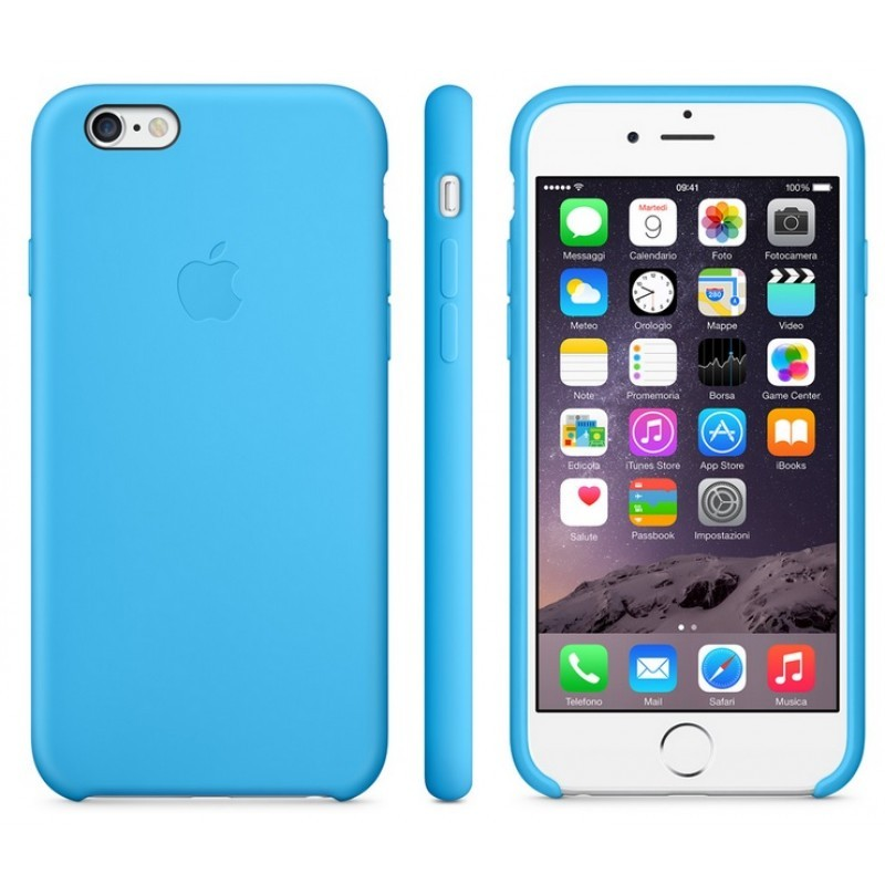 APPLE Cover in Silicone per iPhone 6s Azzurro