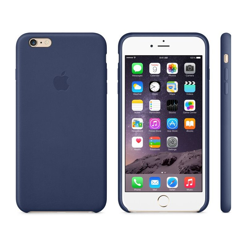 APPLE Cover in Silicone per iPhone 6s Blu Notte