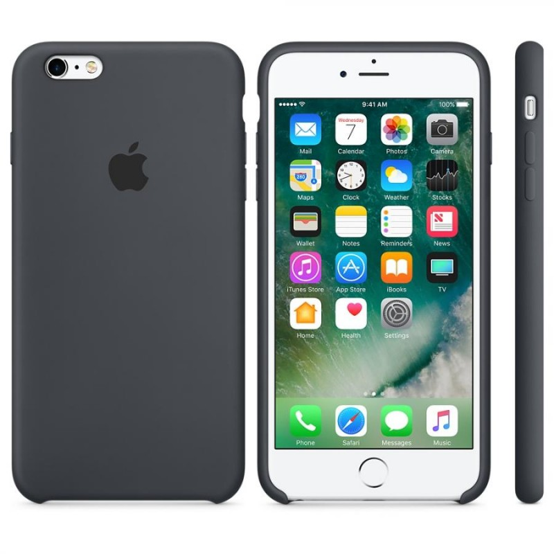 APPLE Cover in Silicone per iPhone 6s Plus Gray