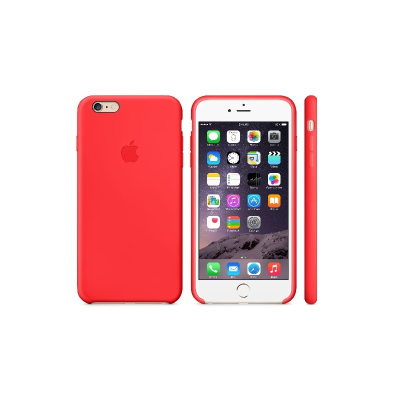 APPLE Cover in Silicone per iPhone 6s Rosso