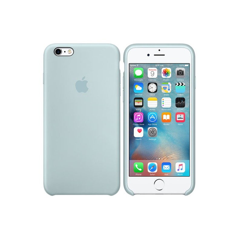 APPLE Cover in Silicone per iPhone 6s Verde acqua