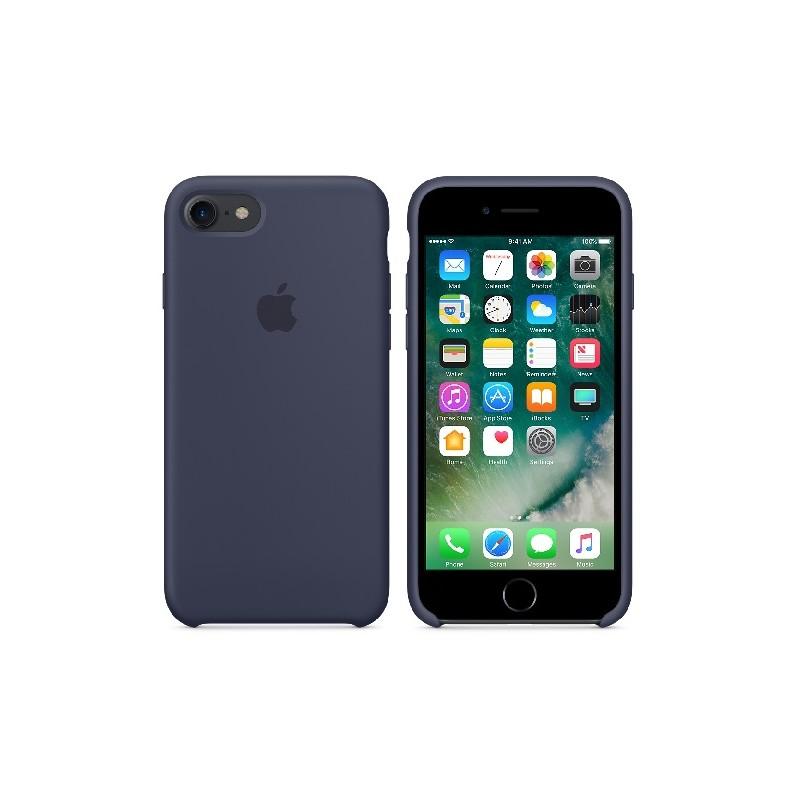 APPLE Cover in Silicone per iPhone 7 / iPhone 8  Blu notte