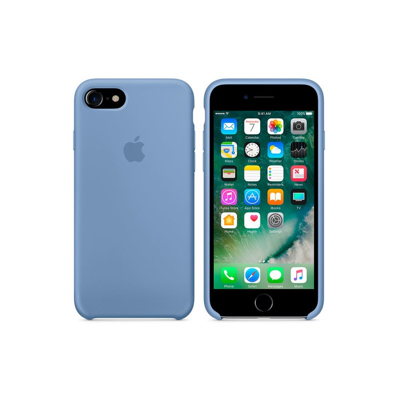 APPLE Cover in Silicone per iPhone 7 / iPhone 8 Azzurro