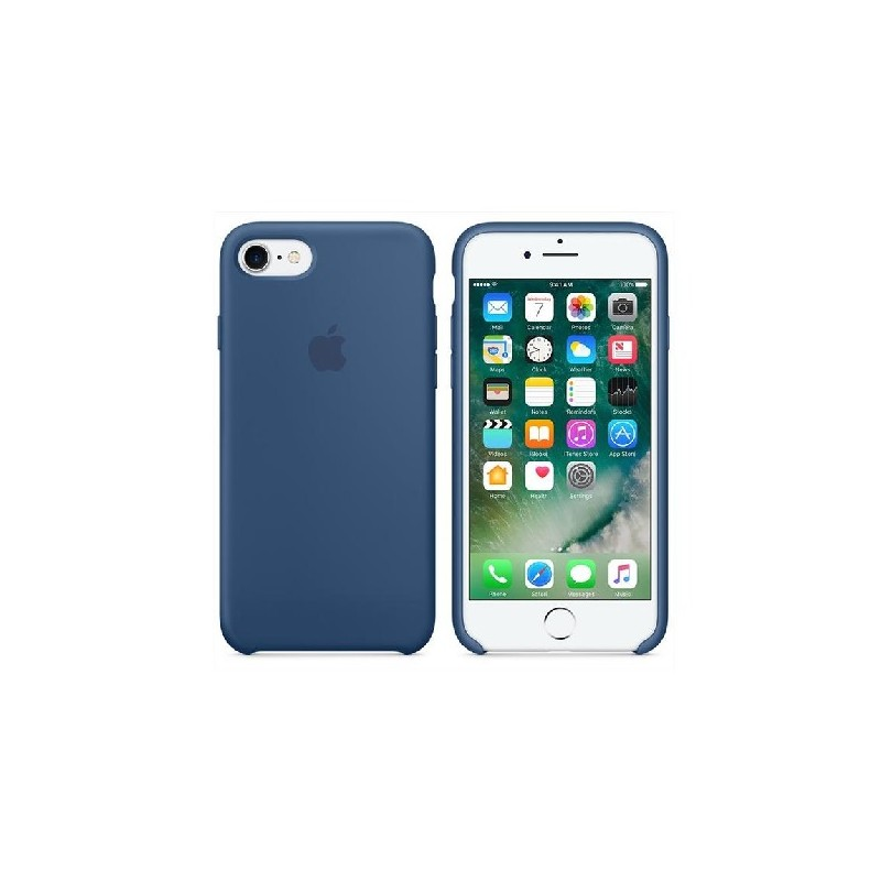 APPLE Cover in Silicone per iPhone 7 / iPhone 8 Blu Cobalto