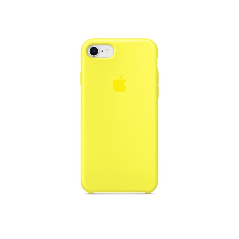 APPLE Cover in Silicone per iPhone 7 / iPhone 8 Giallo Fluo