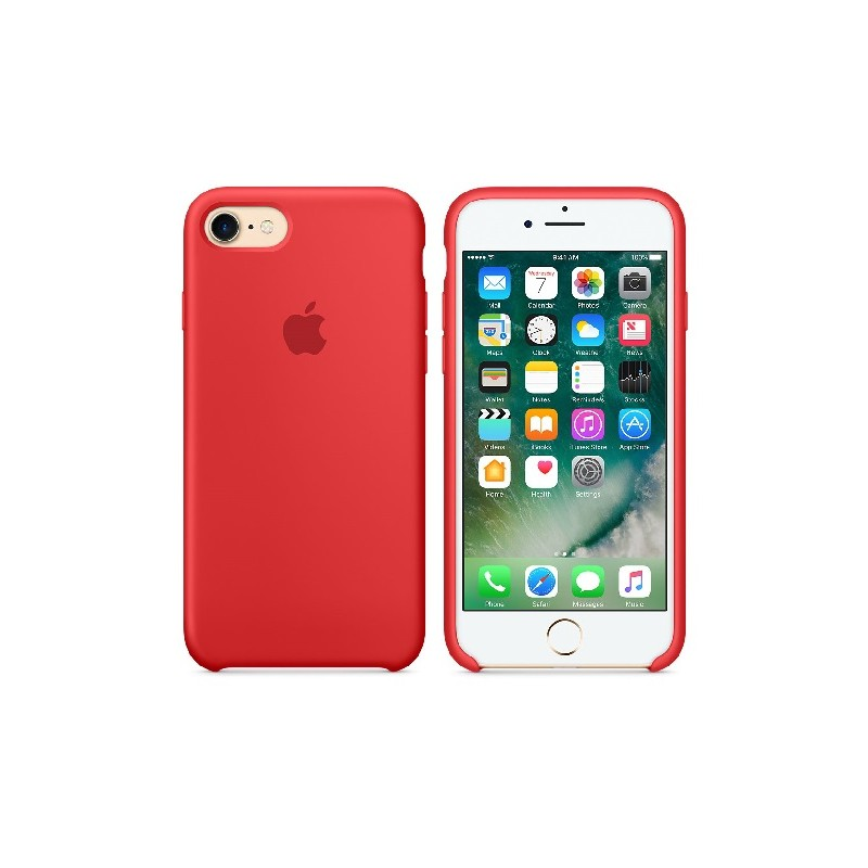 APPLE Cover in Silicone per iPhone 7 / iPhone 8 Rosso
