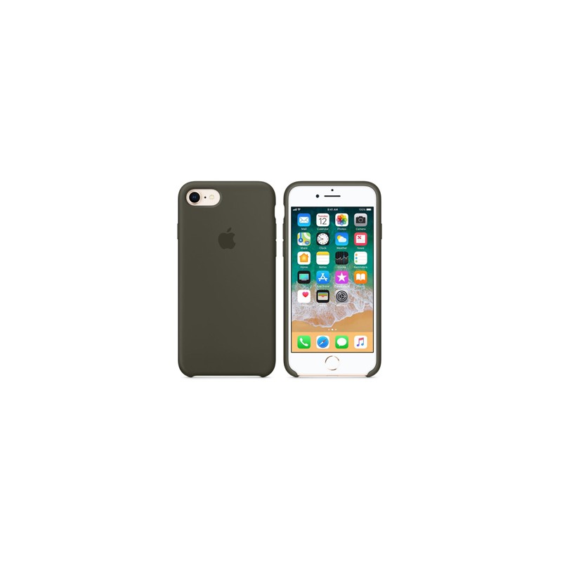APPLE Cover in Silicone per iPhone 7 / iPhone 8 Verde Oliva