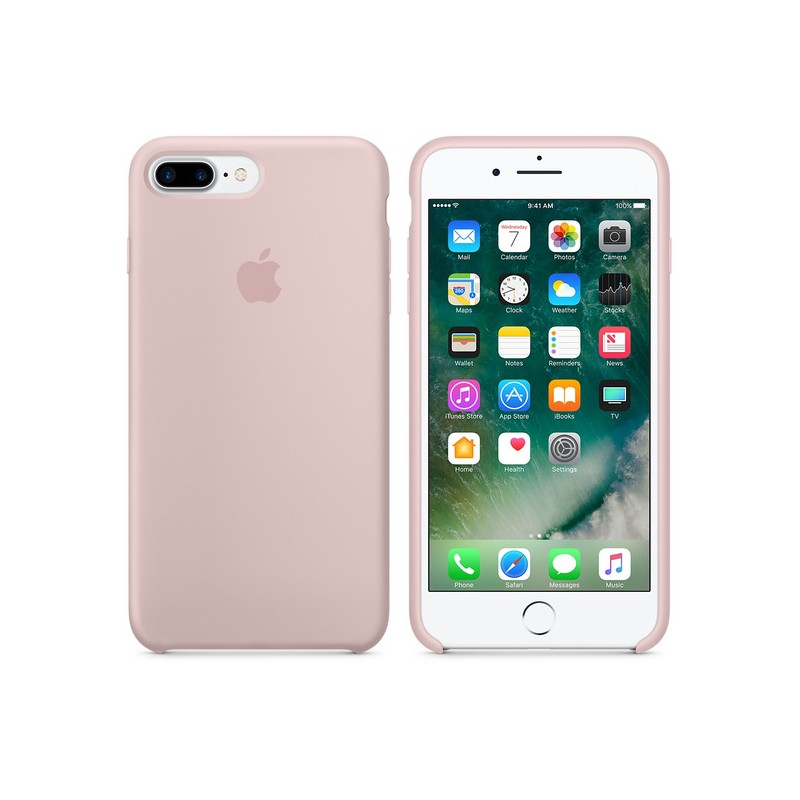 APPLE Cover in Silicone per iPhone 7 Plus  / 8 Plus Rosa Sabbia