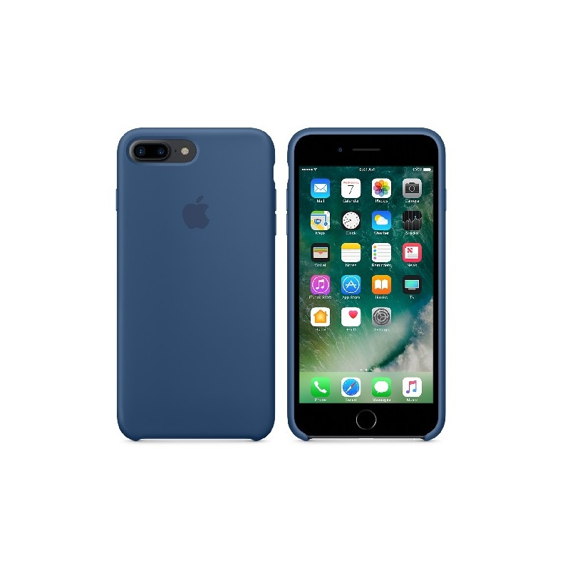APPLE Cover in Silicone per iPhone 7 Plus / 8 Plus Blu Cobalto