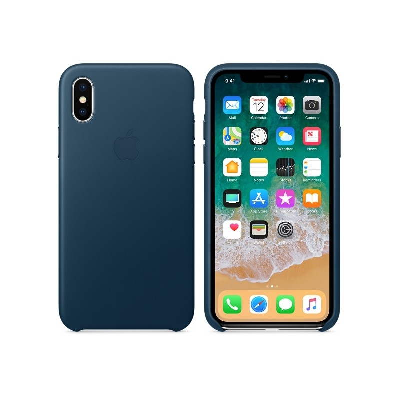 APPLE Cover in Silicone per iPhone X Blu Cobalto