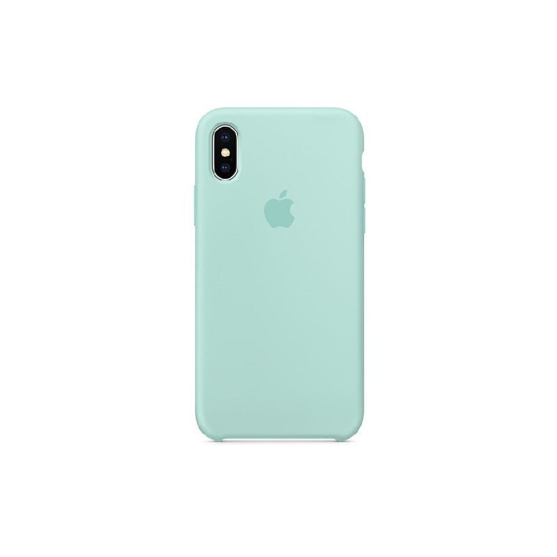 APPLE Cover in Silicone per iPhone X Marine Green
