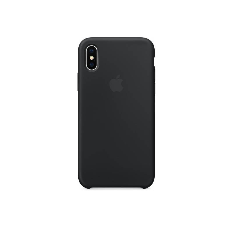 APPLE Cover in Silicone per iPhone X Nero