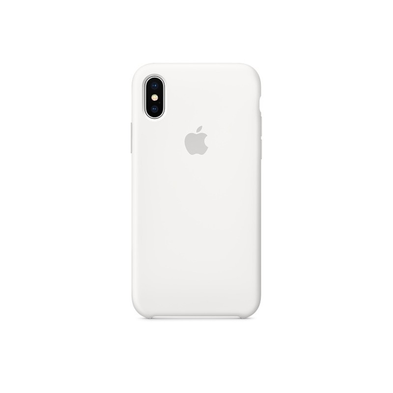 APPLE Cover in Silicone per iPhone Xs Max Bianco