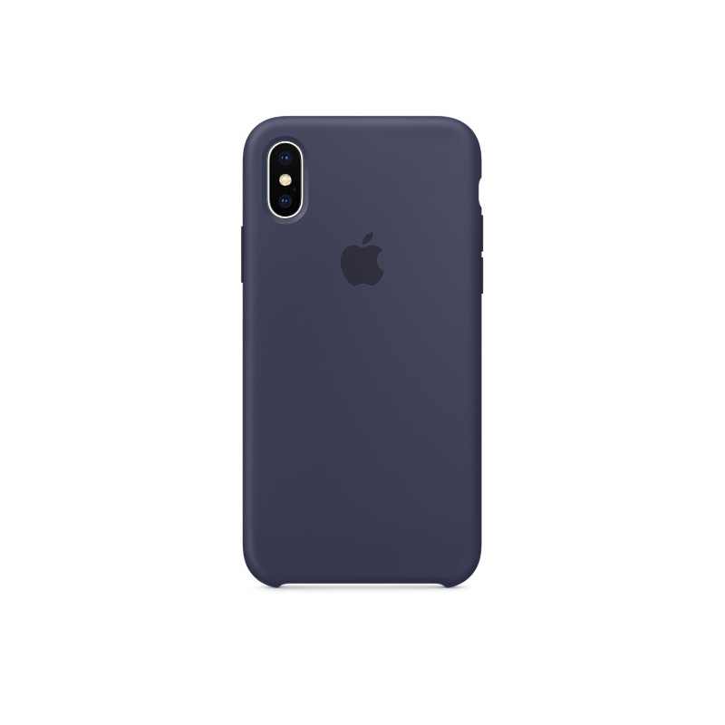APPLE Cover in Silicone per iPhone Xs Max Blu Notte