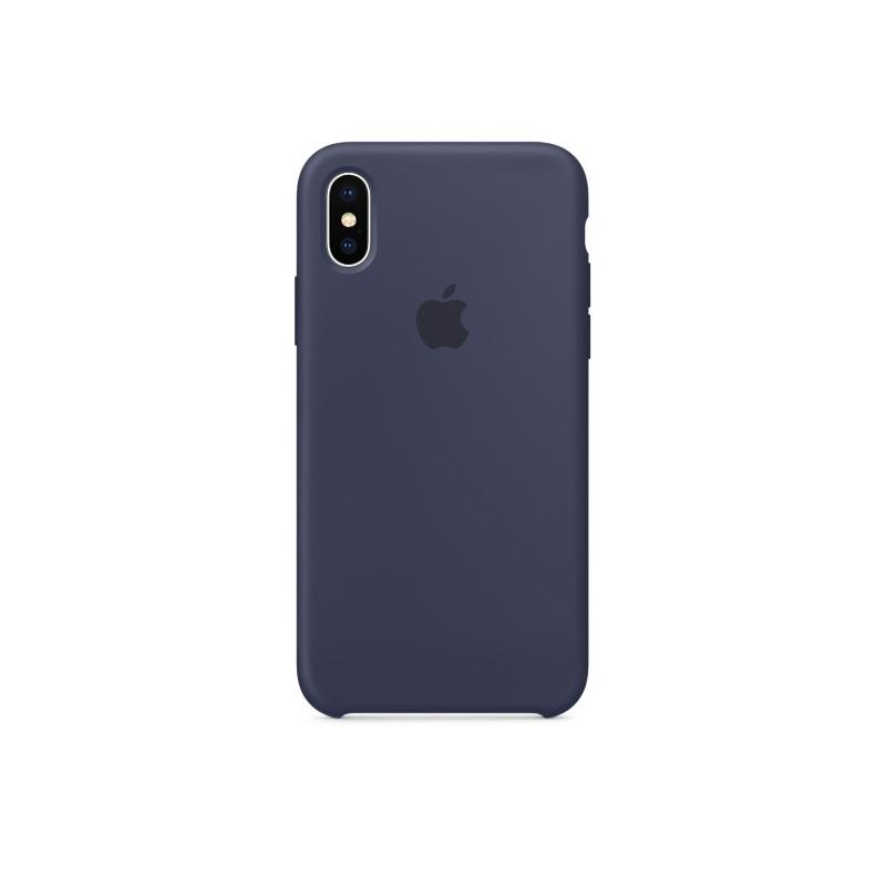 APPLE Cover in Silicone per iPhone Xs Max Blu Notte