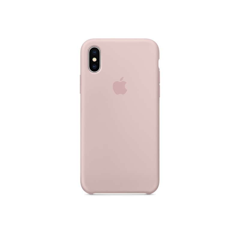 APPLE Cover in Silicone per iPhone Xs Max Rosa Sabbia
