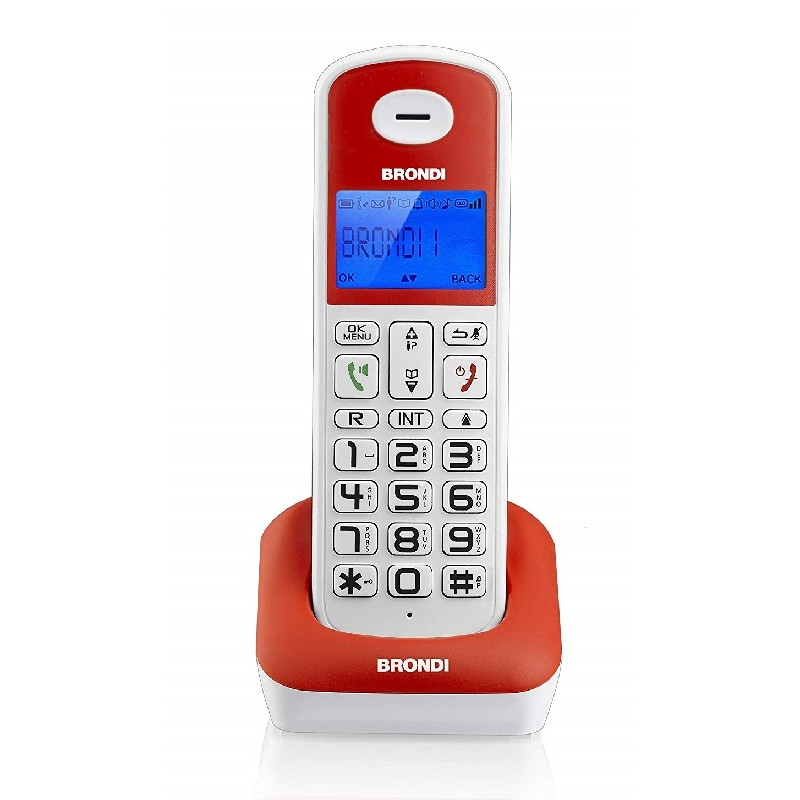 BRONDI BRAVO STYLE BIANCO/ROSSO TELEFONO CORDLESS