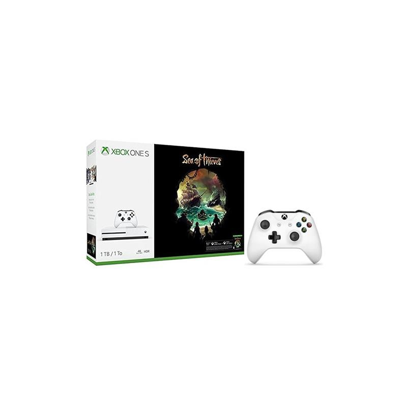 Microsoft XBOX ONE S 1TB Gioco Sea of Thieves + Controller Bianco Bundle