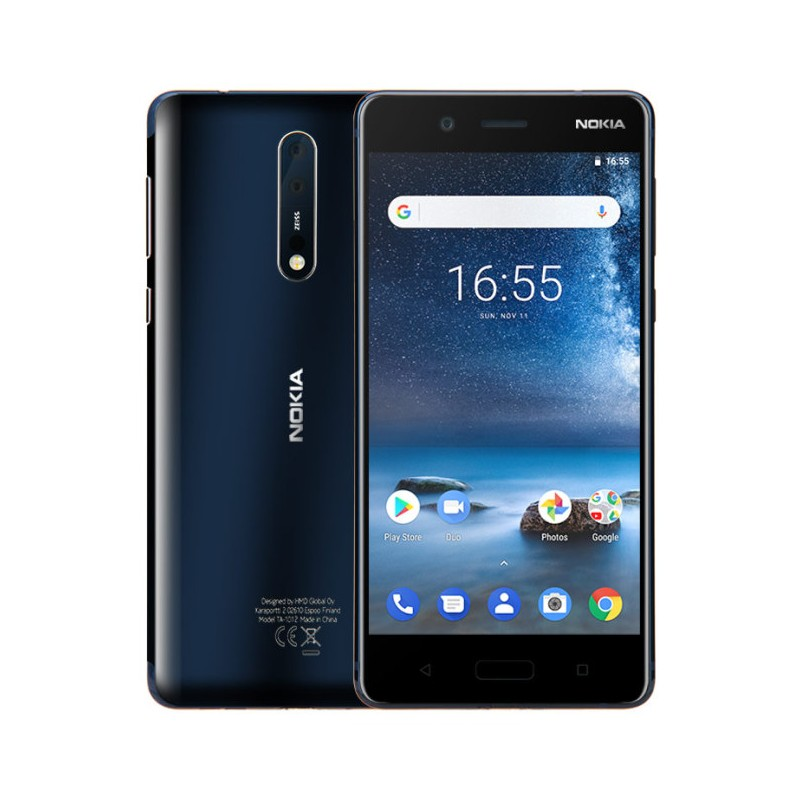 NOKIA 8 LCD 5,3 64GB, 4GB RAM DUALSIM IT BLU (TEMPERED BLUE)