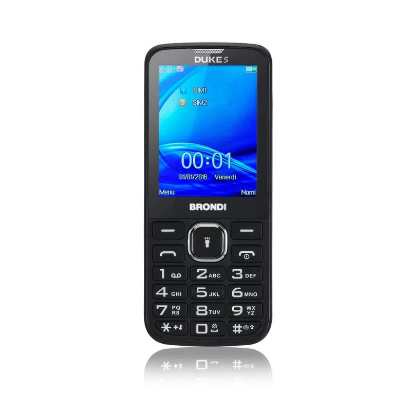 BRONDI DUKE S ITALIA Black Dual Sim, Display 2.4 Fotocamera 1.3mpx, Memoria Espandibile
