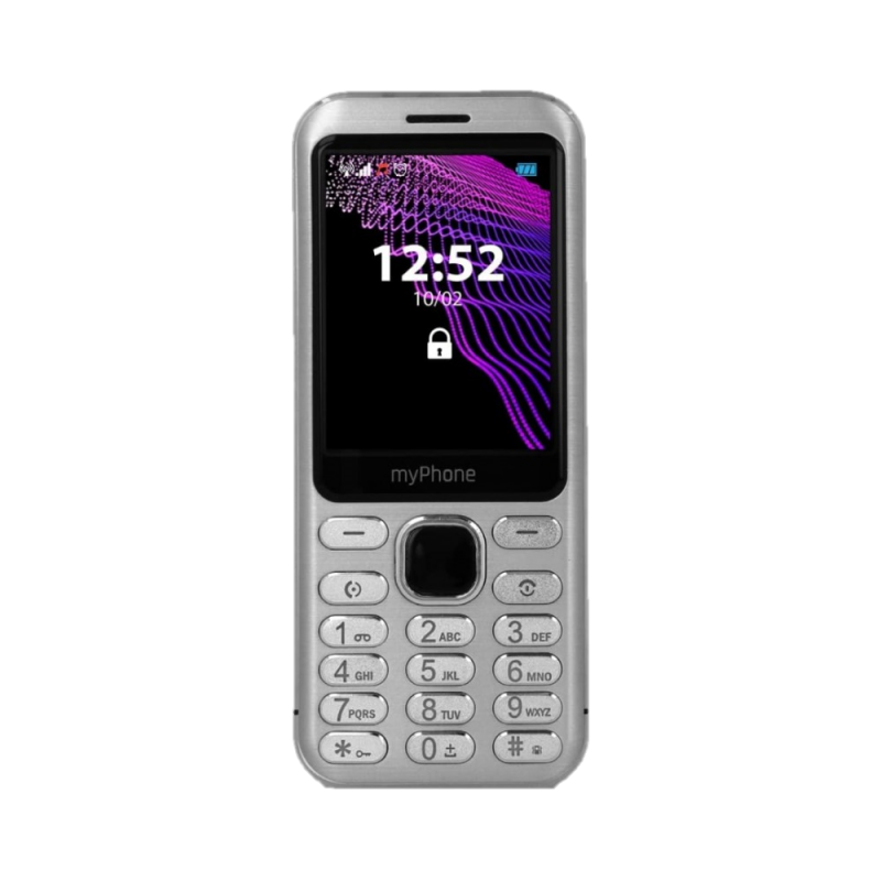 MYPHONE MAESTRO, Display 2.8'', DualSim Foto 2 Mpx, Bluetooth, Radio FM, Scocca Metallo, Silver