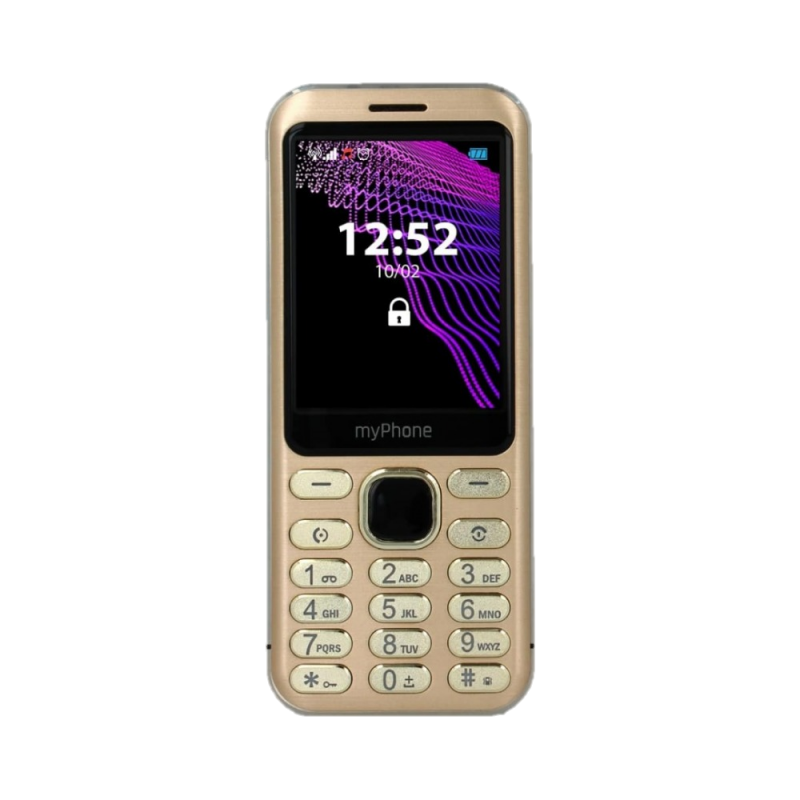 MYPHONE MAESTRO, Display 2.8'', DualSim Foto 2 Mpx, Bluetooth, Radio FM, Scocca Metallo, Gold