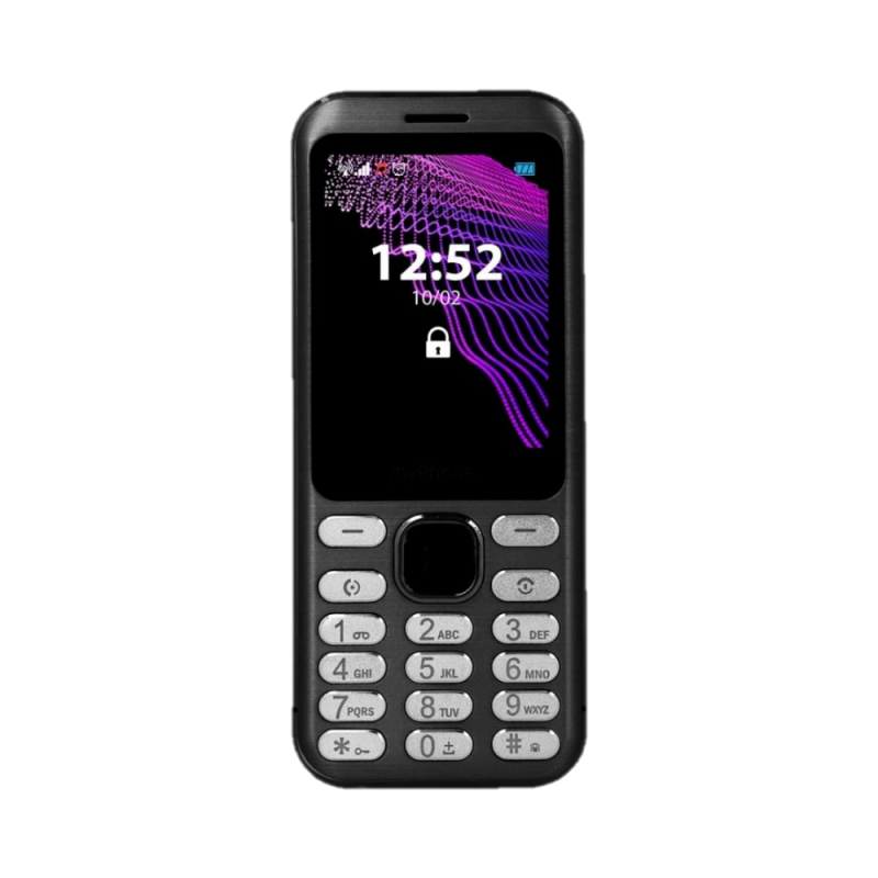 MYPHONE MAESTRO, Display 2.8'', DualSim Foto 2 Mpx, Bluetooth, Radio FM, Scocca Metallo, Black