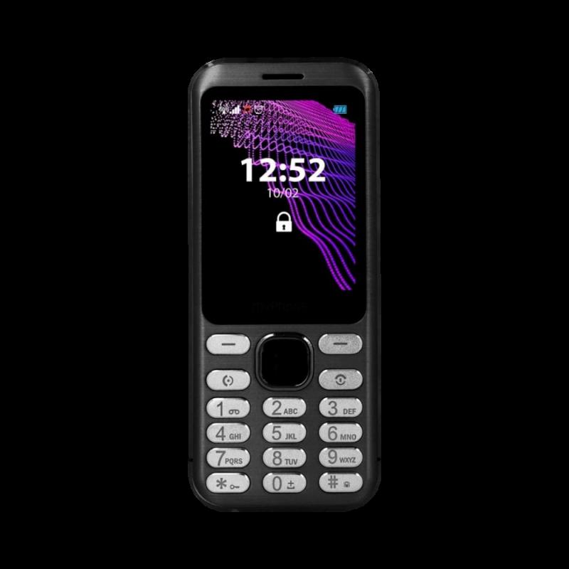 MYPHONE MAESTRO, Display 2.8'', DualSim Foto 2 Mpx, Bluetooth, Radio FM, Scocca Metallo, Black