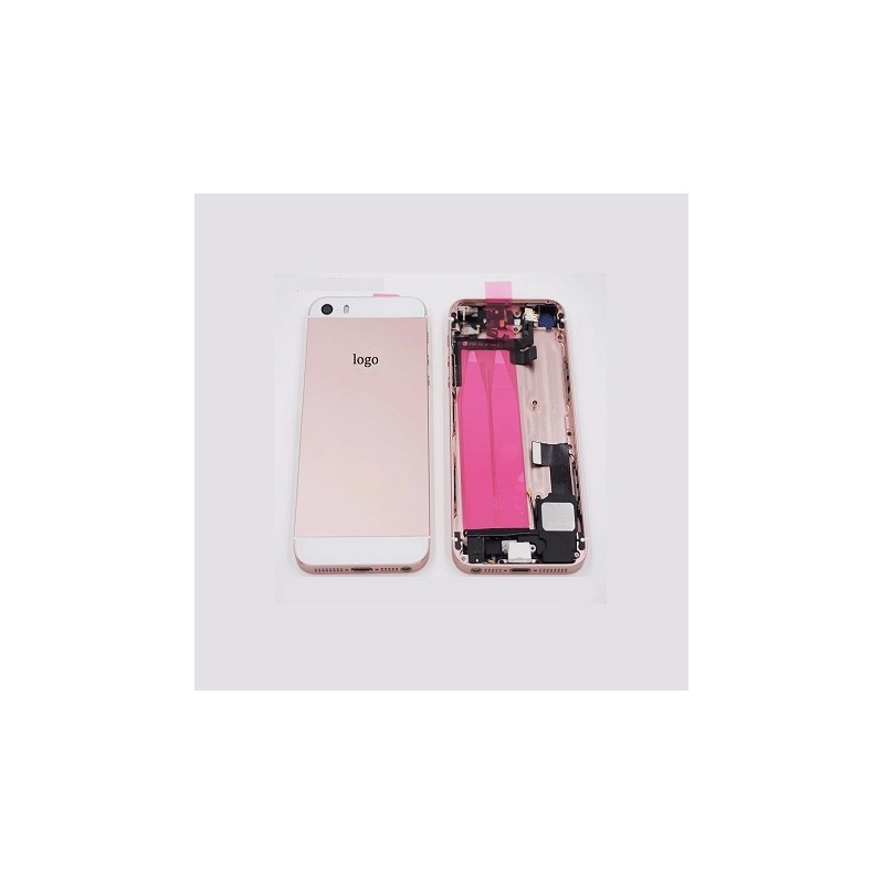 APPLE BackCover Iphone 5S in metallo Rose Gold Full Flet