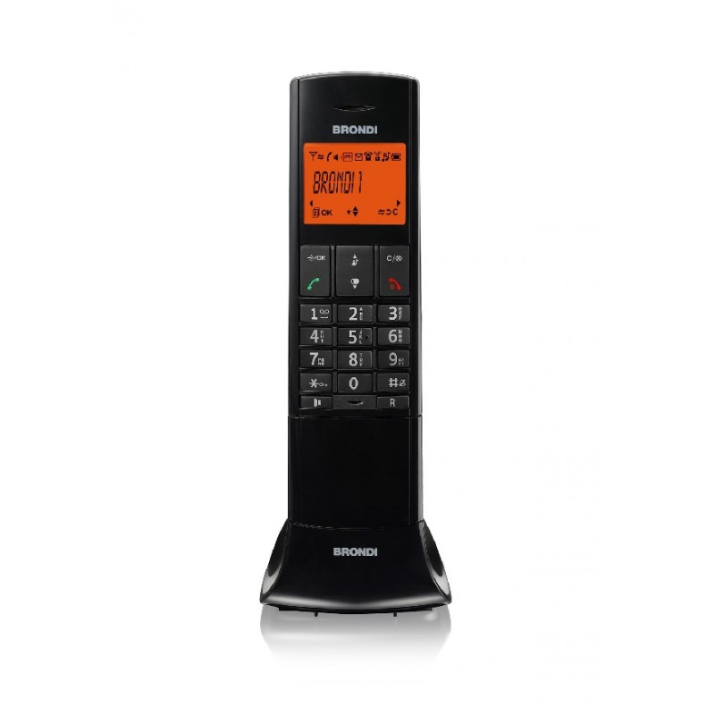 BRONDI LEMURE NERO TELEFONO CORDLESS