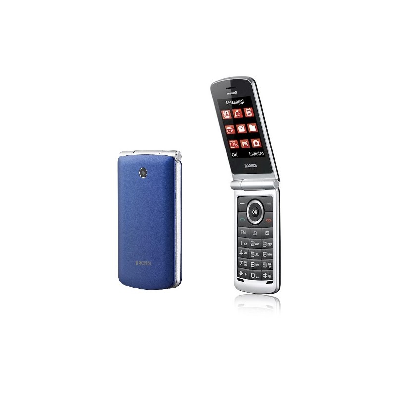 BRONDI MAGNUM 3 ITALIA BLU/VIOLA, Apertura a Flip, Display 3 \'\'Quadri Band - Foto 1,3 Mpx, Bluetooth 2.1 - Dual SIM