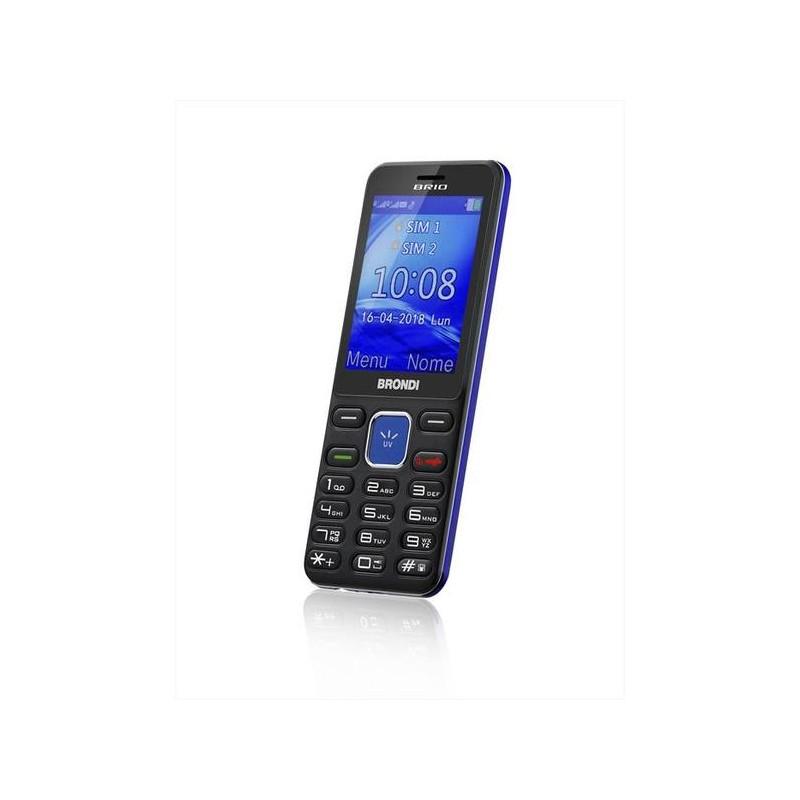 BRONDI BRIO ITALIA NERO/BLU Dual Sim, Display 2.4 Fotocamera 1.3mpx, Memoria Espandibile, Torcia