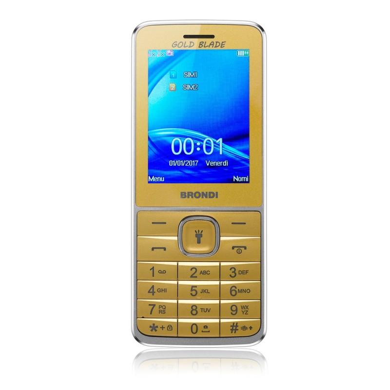 BRONDI GOLD BLADE ITALIA Gold Dual Sim, Display 2.4 Fotocamera 1.3mpx, Memoria Espandibile, Torcia