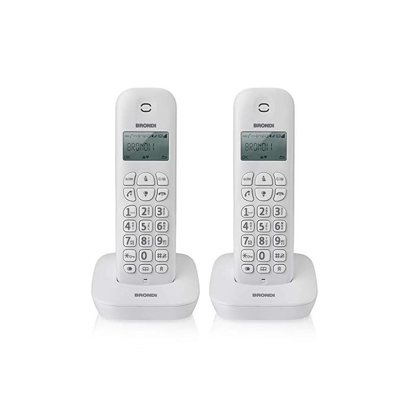 BRONDI GALA TWIN BIANCO / GRIGIO DUE TELEFONO CORDLESS