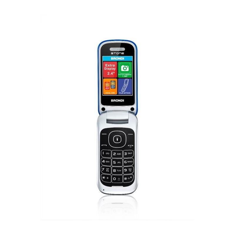 BRONDI STONE ITALIA Azzurro Dual Sim, LCD 2,4, Fotocamera 1.3 mpx, Memoria Espandibile, Apertura a FLIP
