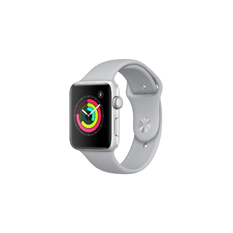 APPLE WATCH Serie 3 GPS 42mm Cassa Silver Aluminium, cinturino Fog Sport Band