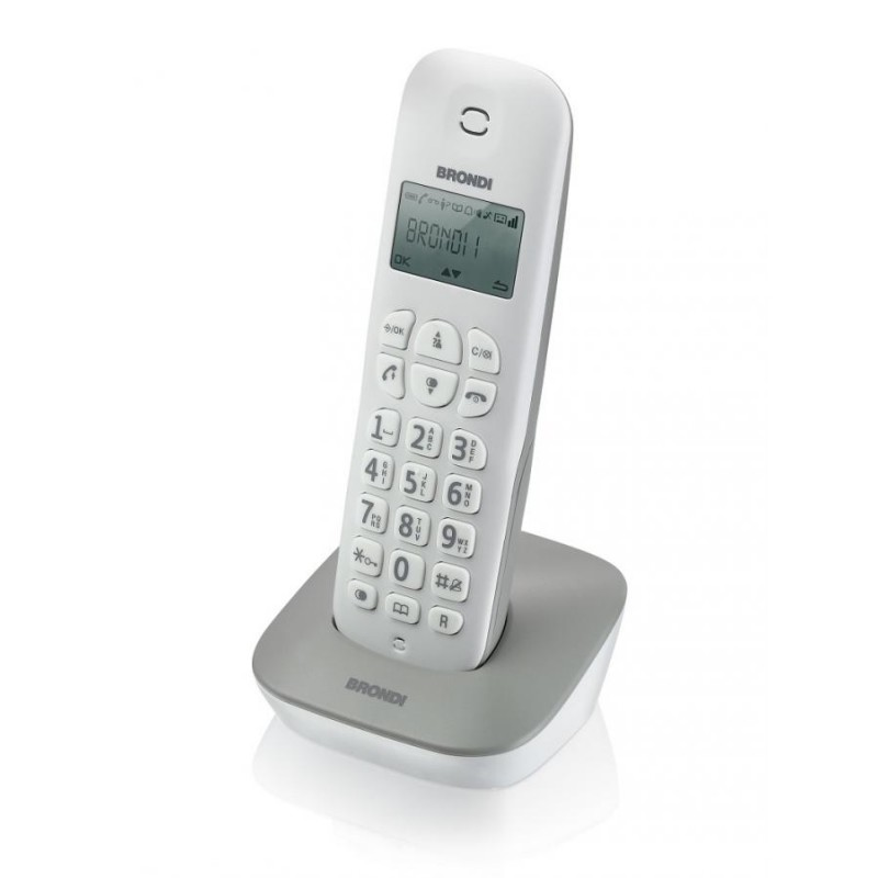 BRONDI GALA, BIANCO/GRIGIO TELEFONO CORDLESS