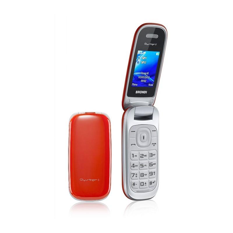 BRONDI OYSTER S ITALIA Rosso Dual Sim LCD 1.8, Fotocamera1.3 mpx, Memoria Espandibile, Apertura a FLIP