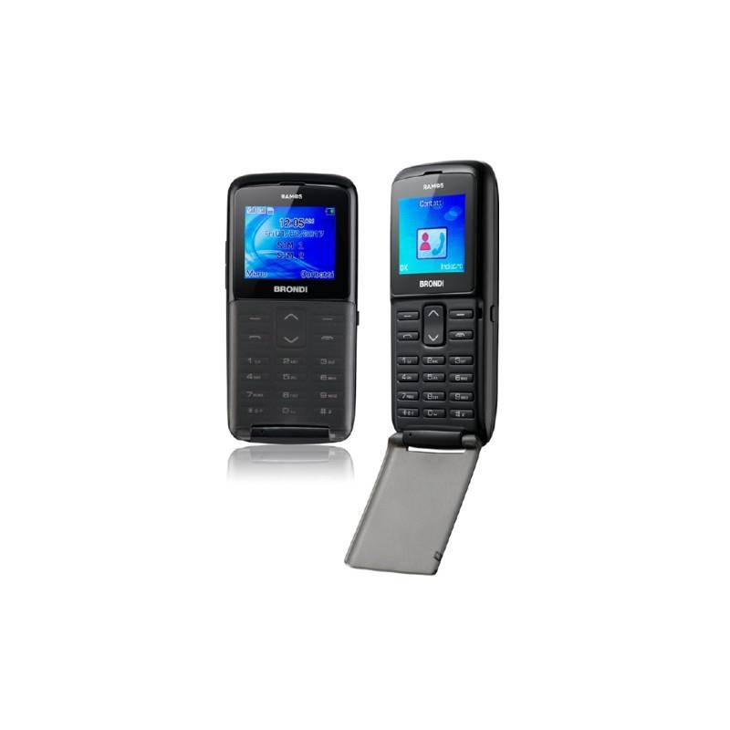 BRONDI RAMOS ITALIA Black Dual Sim, Sportellino, Display 1,77 Fotocamera 1.3mpx, Memoria Espandibile