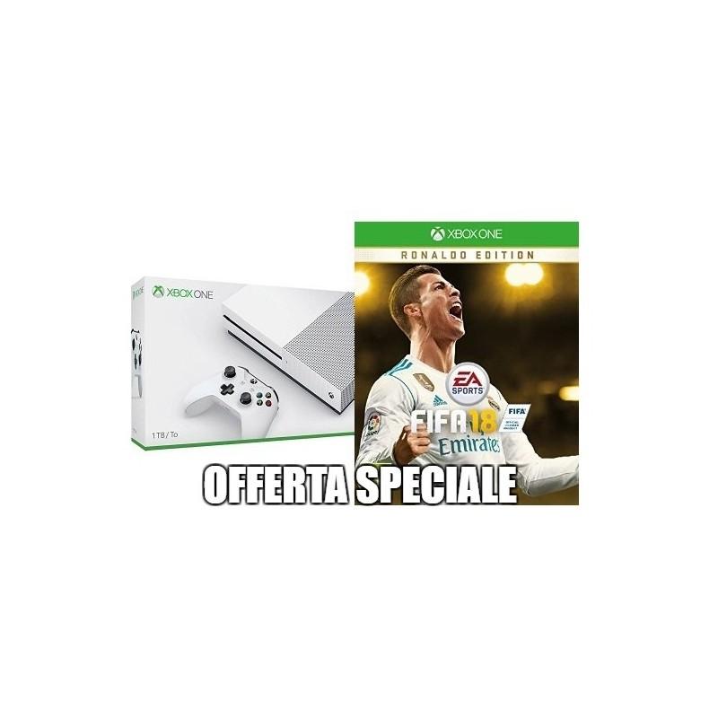 Microsoft XBOX ONE S 1TB FIFA18 + PE2 ITALIA