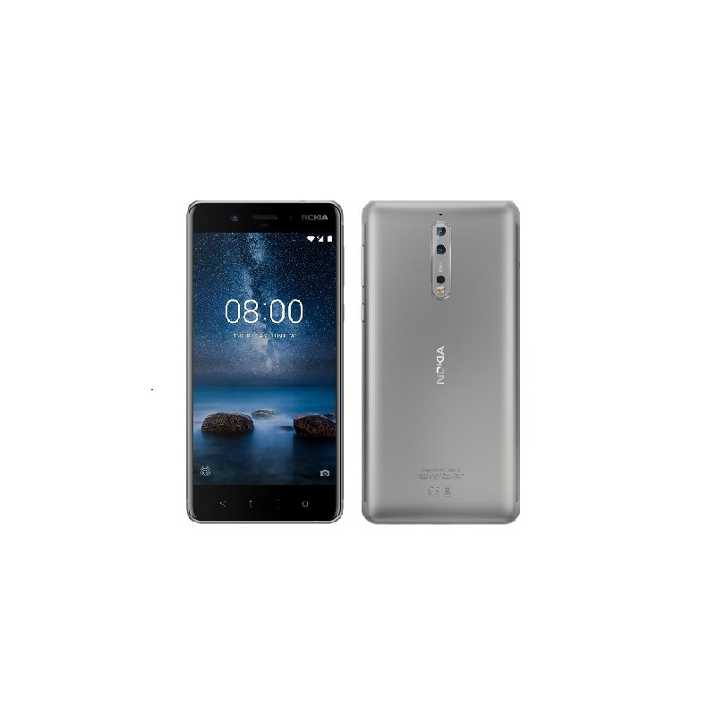 NOKIA 8 Lcd 5,3 64GB, 4GB Ram DualSim IT Steel Silver