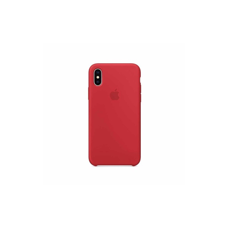 APPLE Cover in Silicone per iPhone Xs Max Rosso